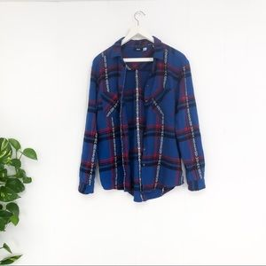 Urban Outfitters BDG   Western Plaid Flannel Top